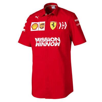 2019 Scuderia Ferrari F1 Formula One Mens Official Team Shirt with Collar