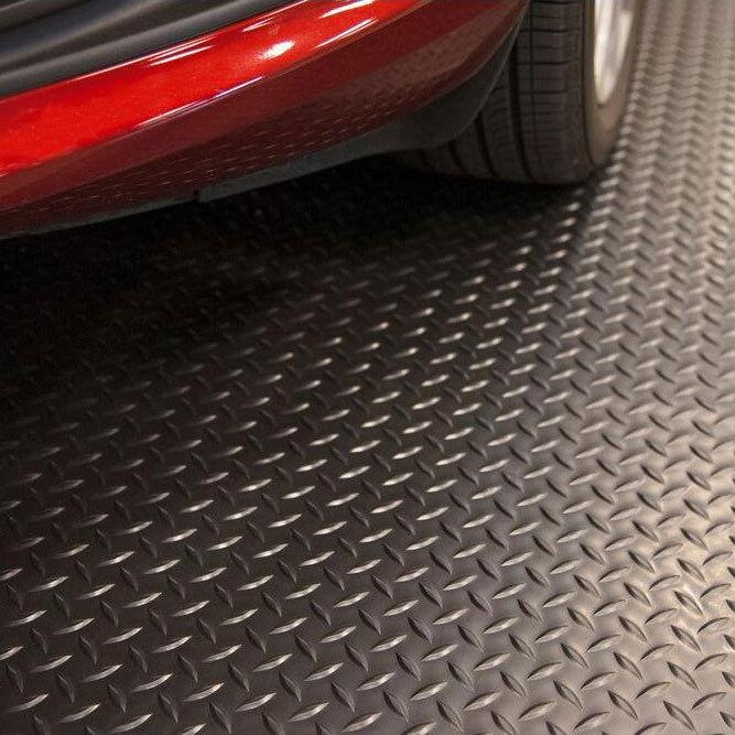 NEW 7.5'x14' Black Floor Protector Garage Mat Flooring Prote