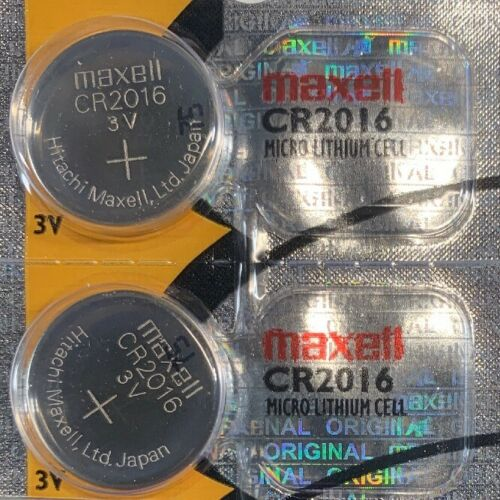 2- CR 2016 MAXELL 2016 LITHIUM BATTERIES 3V Watch Exp.2025 A