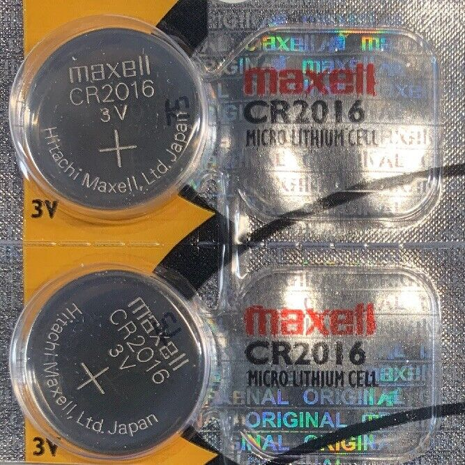 2- Cr 2016 Maxell 2016 Lithium Batteries 3v Watch Exp.2023 Authorized Seller.
