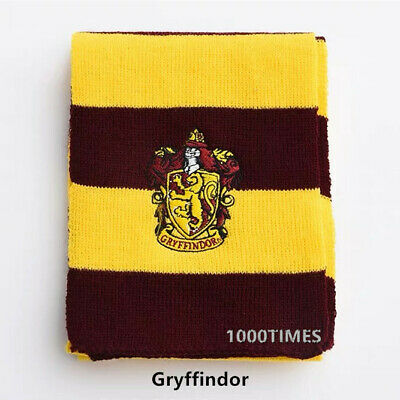 Harry Potter Scarf Gryffindor (Harry Potter Gryffindor House Cosplay Knit Wool Scarf Wrap Fashion)