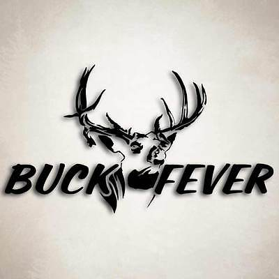 Buck Fever Deer Hunting Decal Car Truck Window Sticker