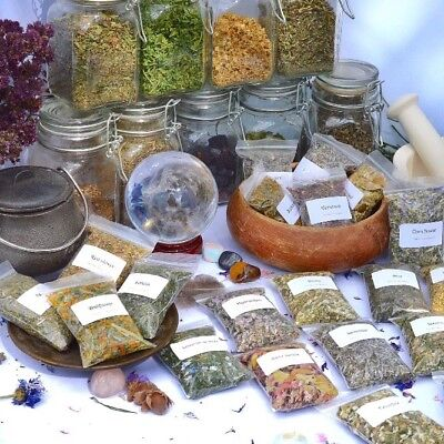 Dried herbs for wicca,witchcraft,spells,magic,incense,crafts D~L (Choice of 250)