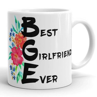 Girlfriend Floral Coffee Mug Best Girlfriend Ever Cute Valentines Gifts for