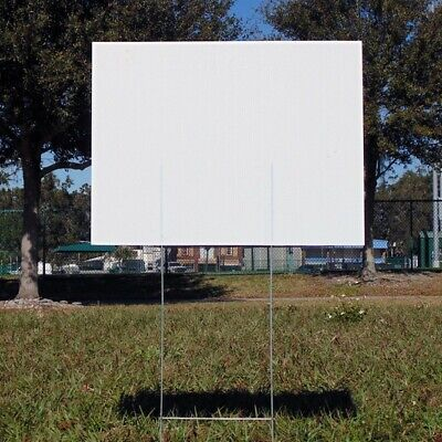 20 Signs 18 X 24 X4 Mm Corrugated Plastic With 20 Stake 10x24 X 9gauges