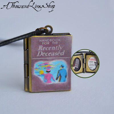 Handbook For The Recently Deceased  Beetlejuice  Locket Keychain Or Necklace