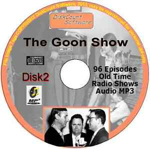 Goon Show 184 Old Time Radio Episodes Audio MP3 CD OTR Spike Milligan 2 discs