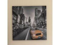 New York Square Canvas