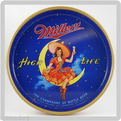 Miller High Life Beer Tray Refrigerator /  Tool Box  Magnet  Man Cave