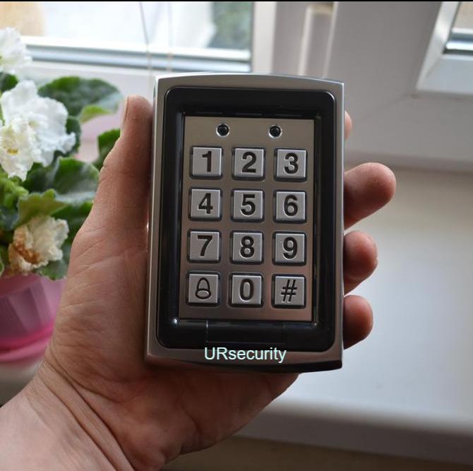 125KHz RFID Card & Password Door Access Control Keypad Metal Access Control Pad
