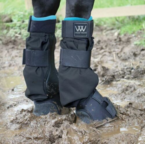 Woof Wear Mud Fever Turnout Boot - Black/Turquoise - Large