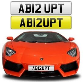 ABRUPT cherished private personalised number plate reg. AB12UPT