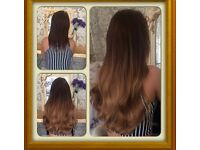 RUSSIAN HAIR EXTENSION FOR NANO RINGS/FLAT TAPES MOBILE HAIR STYLIST AT THE COMFY OF YOUR OWN HOME