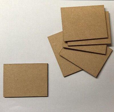 6 x rectangle Bases 3 Mm Laser Cut Mdf 75 Mm X 50 Mm Wargames bolt action