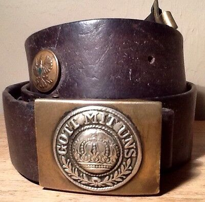 Imperial German, Prussian ( Pre-War ) Enlisted Man's Souvenir/Hate Belt & Buckle