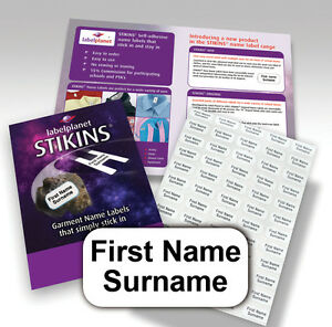STIKINS-Name-Labels-NO-NEED-TO-IRON-ON-SEW-Stick-In-School-Clothing-Tapes-Tags