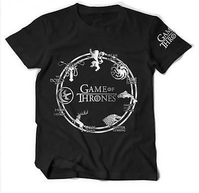 New Fashion Women's Men's Game of Thrones 3D Print Casual T-Shirt Plus size - Plus Size Men