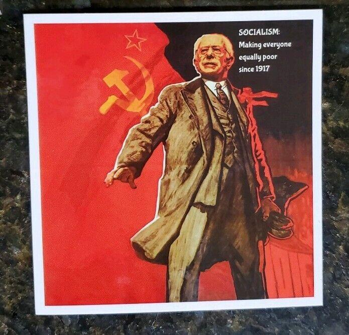 Bernie Sanders Vladimir Lenin Soviet Union socialism sticker CCCP / USSR 2020
