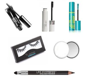 Almay,Maybelline:Eyeliner, Mascara, Lashes, Hand Mirror (6 items