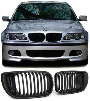 Sport Nieren Kühlergrill schwarz matt für BMW 3ER E46 LimousineTouring 01-05, gebraucht gebraucht kaufen  Witten