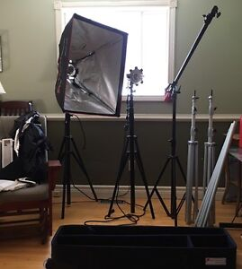 Proper Studio Lighting Kit  - $360 Negotiable  Peterborough Peterborough Area image 1
