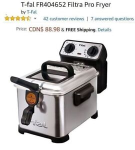 T-Fal Filtra Pro Fryer - Used Once (Retails for $89)
