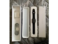 Apple sports watch 38 mm black/grey 4 1/2 months old ex con as new