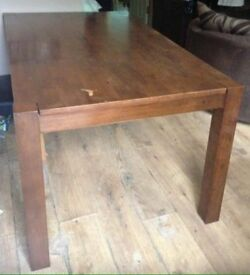 Solid Dark Wood Table