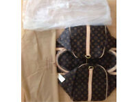 New Louis Vuitton duffle bag with authenticity made in your name travel bag keepall gym leather