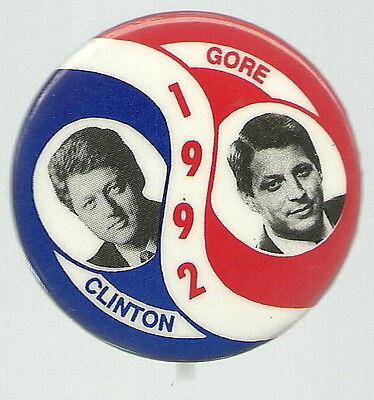 CLINTON, GORE 1992 SWIRL JUGATE POLITICAL PIN