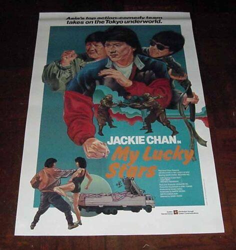 "Sammo Hung ""My Lucky Stars"" Jackie Chan HK 1985 Original Overseas Version POSTER"