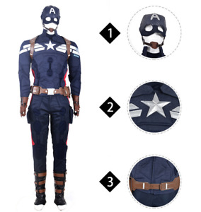 American Captain 2 Cosplay Costume Halloween Carnival Cosplay Co