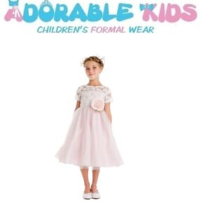 Brand New Ivory and Blush Flower Girl Dresses