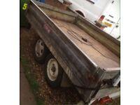 Builders trailer drop sides