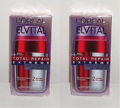 Extrem Trockenes Haar ((100ml=19,67€) 2x Loreal Elvital Total Repair Extreme Anti-Spliss-Kur, 2x15ml)