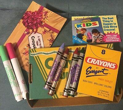 Crayola Fun Kit 8 Non Toxic Brilliant Colors Crayons 4 Glitter Crayons 2 Markers - Non Toxic Crayons