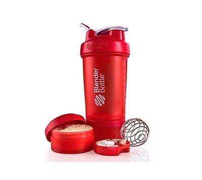 Blender Bottle ProStak 22 oz BlenderBottle Mixer Pro Stak Shaker Cup Utmost RED
