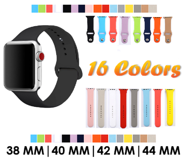 Купить Unbranded - Sport Silicone Watch Band Strap for Apple Watch Series 4 3 2 38mm 40mm 44mm 42mm