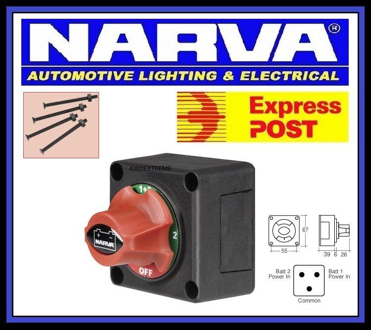 narva battery master switch boat marine caravan dual system isolator 61084bl ebay. Black Bedroom Furniture Sets. Home Design Ideas