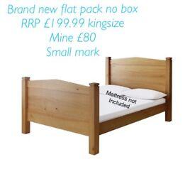 Brand new kingsize bed