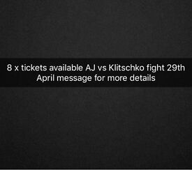 Anthony Joshua vs Klitschko tickets available