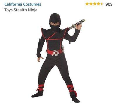 Ninja Halloween Costumes Kids (Stealth Ninja Child Halloween Costume)