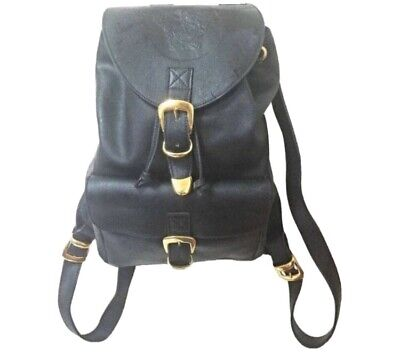 Authentic Vintage Gianni Versace Couture Leather Backpack Purse