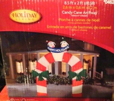 NEW CHRISTMAS AIRBLOWN INFLATABLE HUGE 10.5 PENGUIN ARCHWAY YARD - Christmas Archway Decoration