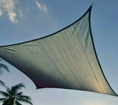 ShadeLogic Sun Shade Sail Heavy Weight 12 x 12 Square - Sea Blue