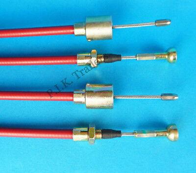 2 x Stainless Steel 1020mm Trailer Brake Cables Mushroom Nipple for ALKO