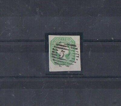 PORTUGAL - 1855-56 50 rs verde, D. PEDRO V. CABELOS LISOS. 51-FUNCHAL