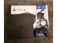 PS4 PlayStation 4 Slim 500gb with box. Like new!