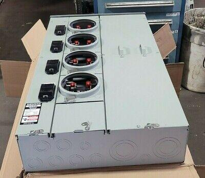 New Siemens Uni-pak 400 Amp Metering System 240 Vac 5 Jaw 4 Meters Wp4411rjb