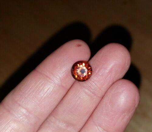 Stunning Loose Orange Zircon 9mm Round 4.5ct